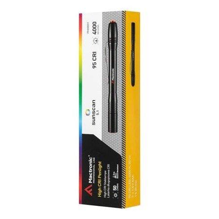 Latarka długopisowa Mactronic SUNSCAN 5.1, 50 lm